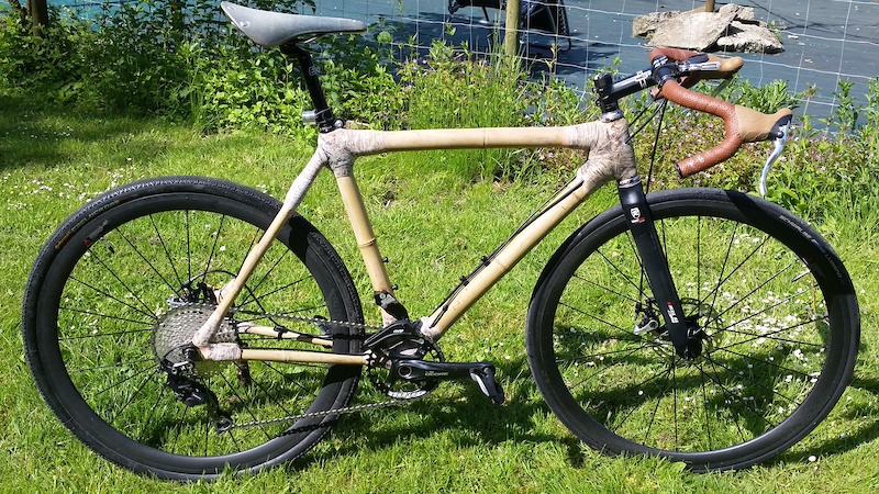 Home made bamboo gravel cyclo cross bike