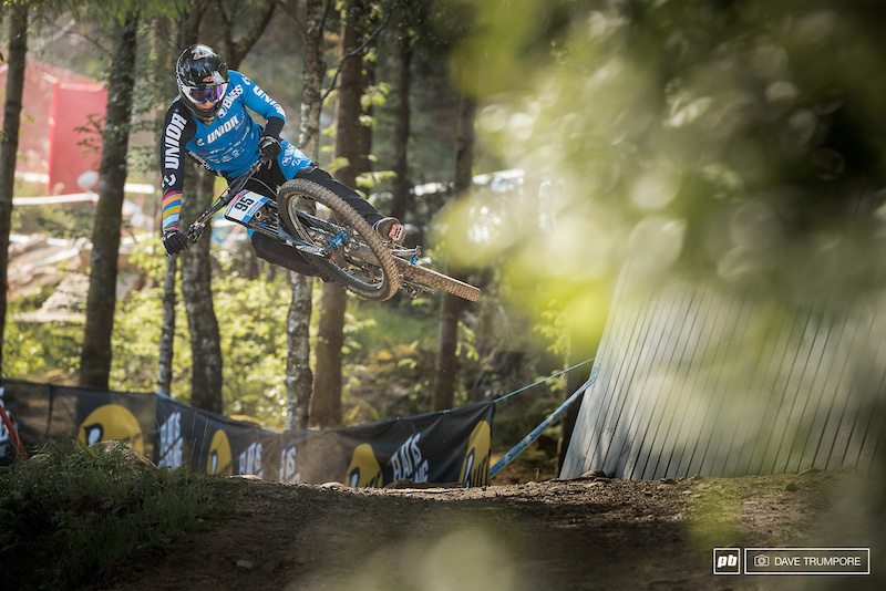 Reece Wilson sends it sideways in the early morning practice.