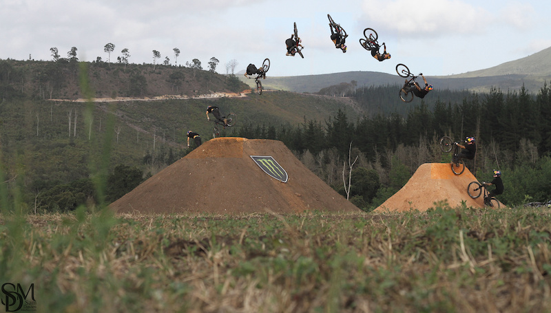 Andreu boosting a signature 360 while filming for Pure Darkness 3