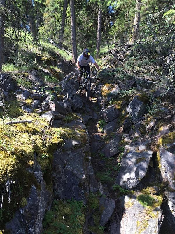 Dr no mountain bike trail kelowna british columbia for Key west bike trails