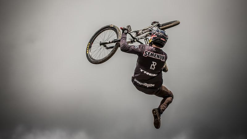 Brandon Semenuk Crankworx Les Gets Best Trick. Photo by Sean St. Denis