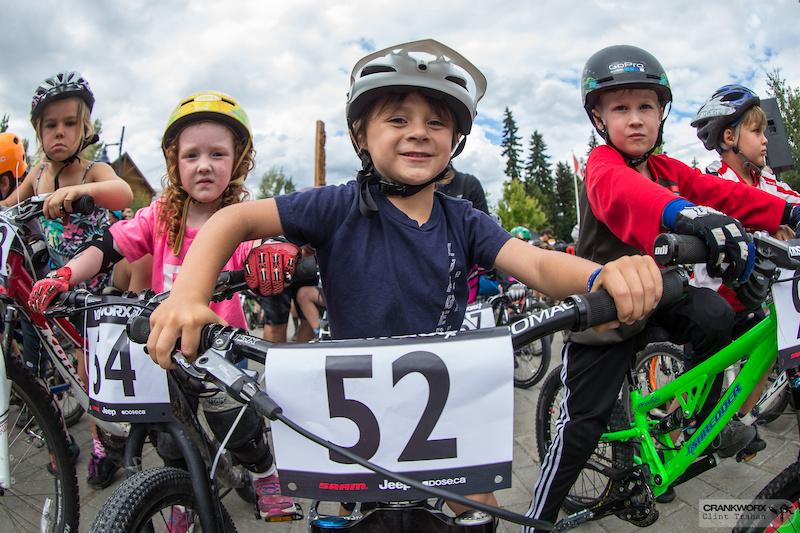 Luke Vaughn Luma age 6 at Kidsworx Fat Tire Crit during Crankworx in Whistler British Columbia. Photo by clint trahan crankworx