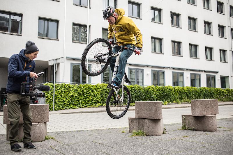 Hans looking good on his trials bike.