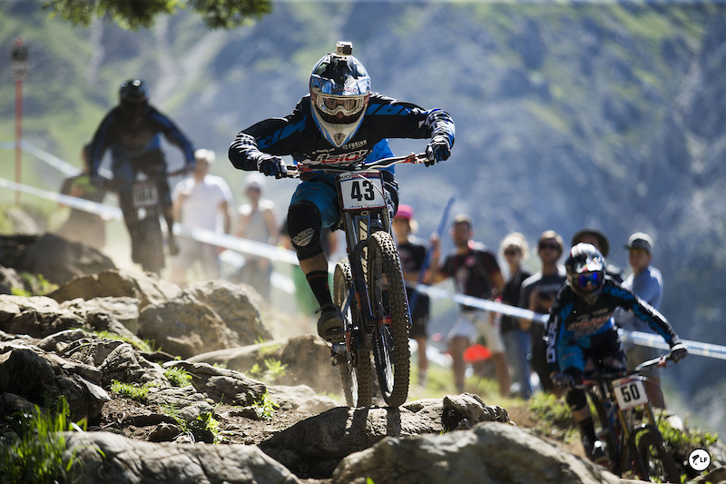 Jack George and Will in A practice at lenzerheide
