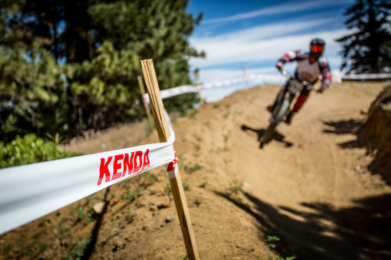 Kenda a major sponsor for the event had their course tape lining every part of all three race courses. DH Enduro and XC.