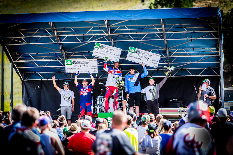 Pro Men s DH Podium - 1st Place Cody Johnson 4 34.906 2nd Place Mike Day 4 34.956 3rd Place Tim Langdon 4 35.507 4th Place Bruce Klein 4 36.837 5th Place Austin Warren 4 39.182
