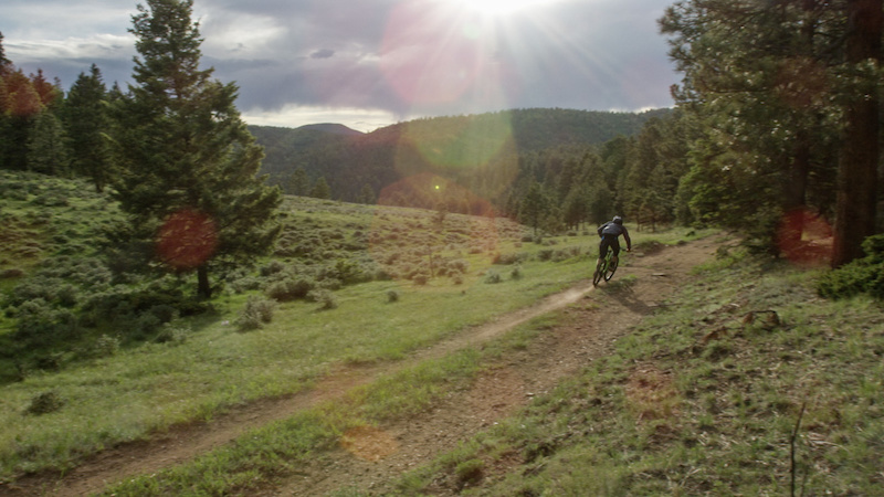 Stan gets some practice laps in before race day at Angel Fire Bike Park which served as stop two of the SCOTT Enduro Cup.