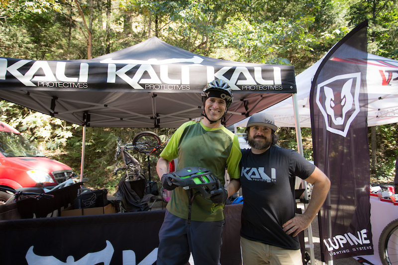 Cedar from Kali was on hand to once again do the exchange program for anyone who broke their lid during the event. He said they had over a dozen exchanges at the China Peak event and nearly a half dozen after the first two stages at the Ashland Enduro.