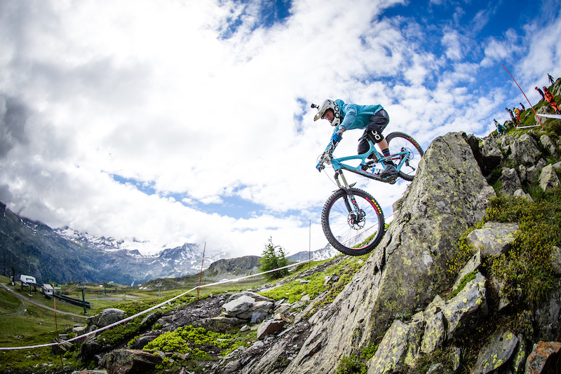 Gorgeous scenery gnarly trails and blue sky the Italian Alps never disappoint and Robin Wallner is making the most of it