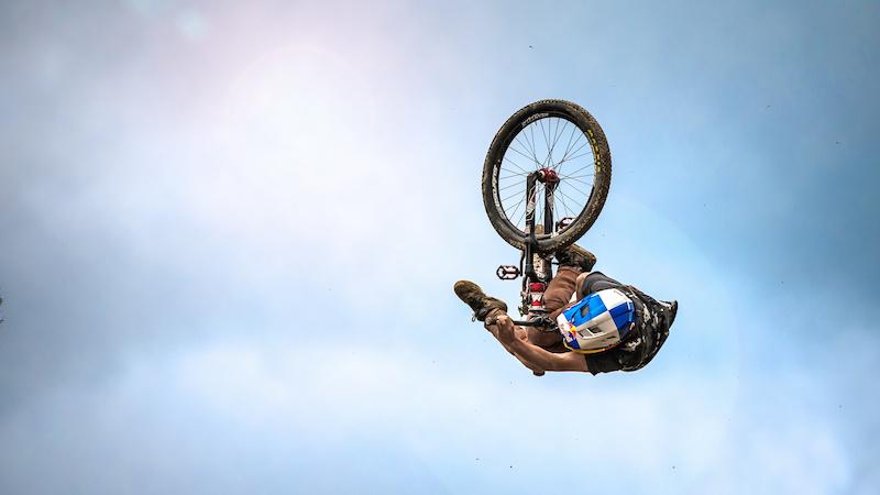 Anthony Messere Crankworx Les Gets Best Trick. Photo by Sean St. Denis