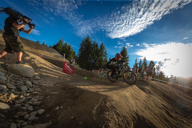 Bas Van Steenbergen during the CLIF Bar Dual Speed amp Style at Crankworx Whistler. Photo by Clint Trahan.