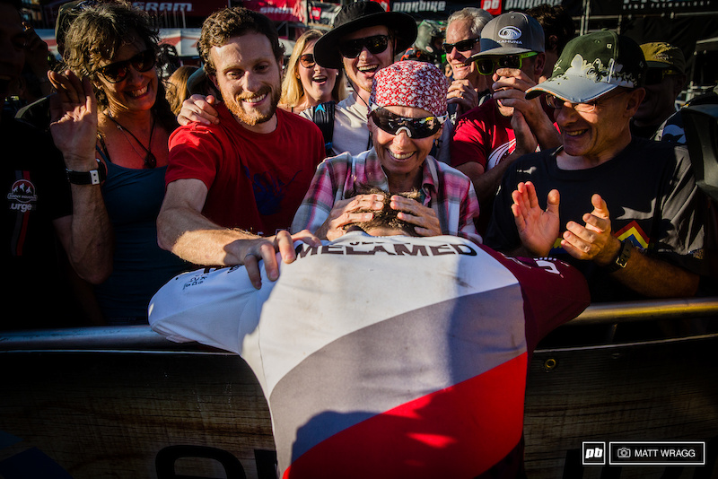 It was an emotional affair for the Melamed clan to see Jesse stake his claim for a place among the fastest racers in the world.