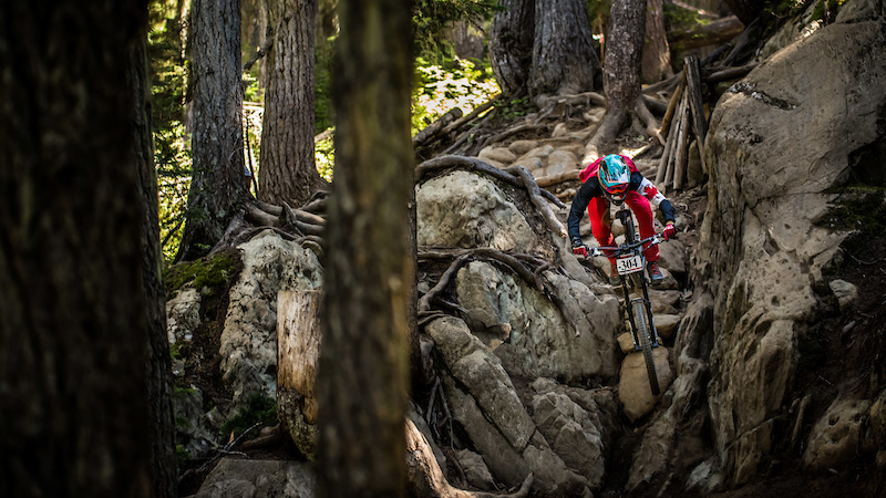 Miranda Miller Garbonzo DH Crankworx Whistler 2016. Photo Sean StDenis