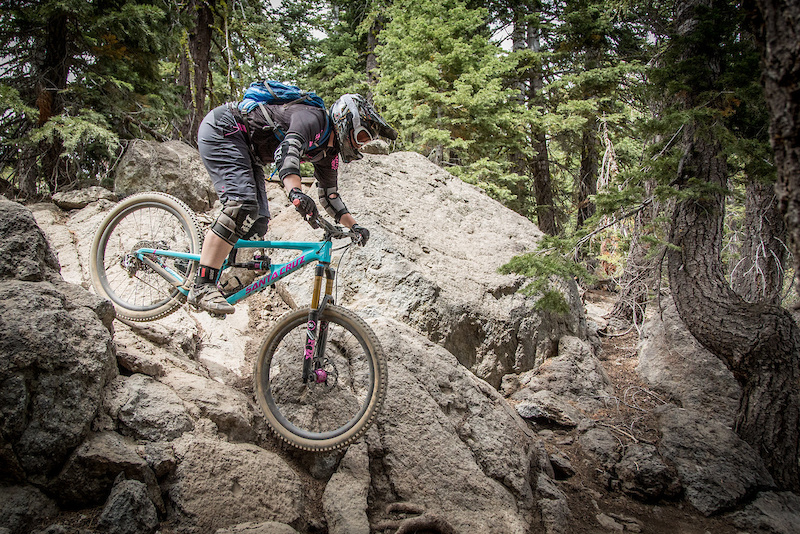 Megan Gemelos isn t new to rocky terrain and showed her expertise during the 2015 Northstar Enduro. Photo Called to Creation