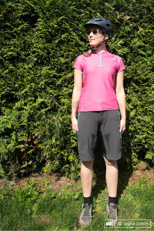 Grey Madison Tech Short Sleeve Womens Cycling Top