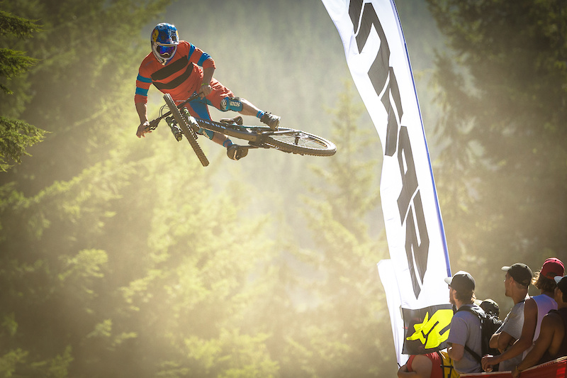 Darren Berrecloth during the Whip-Off Championship at Crankwork Whistler 2016. Photo by Clint Trahan