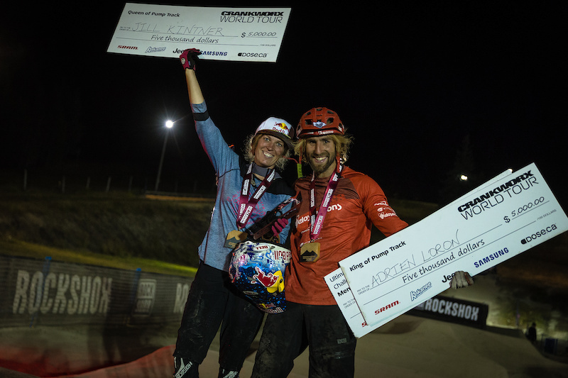 Your King and Queen of the Pump Track Jill Kintner and Adrien Loron. Photo by Clint Trahan