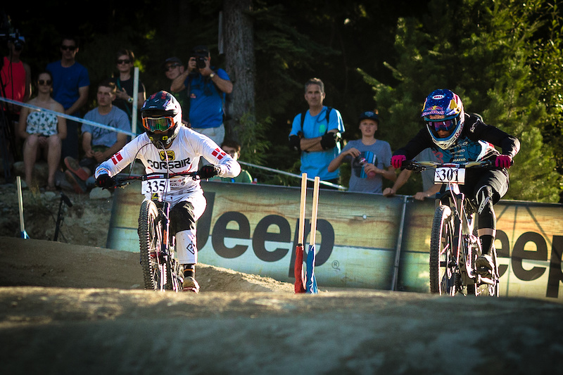 WHISTLER CANADA - AUGUST 19 on August 19 2016 at Crankworx in Whistler British Columbia Canada. Photo by Clint Trahan Crankworx