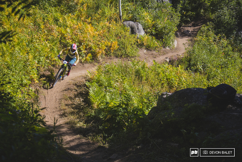 Cooper Dendel raced her way to her first Big Mountain Enduro win in the Pro Women s race this weekend. After two days and seven stages Dendel finished nearly a full minute ahead of second place.