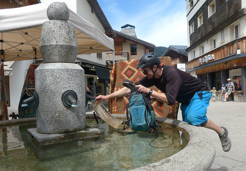 Granite water trough. So Megeve.