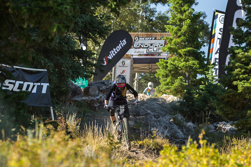 Ileana Anderson starts her descent on Stage One down NCS. The Deer Valley local loves the untamed raw feel of DV trails.