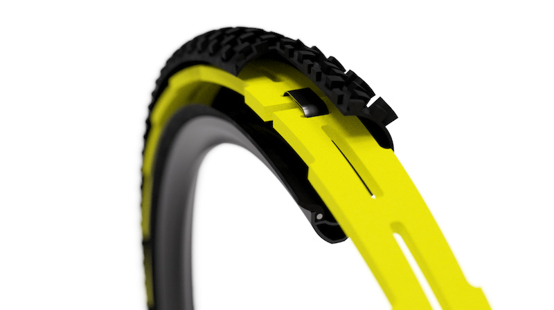 Huck Norris Snakebite and Rim Dent Protective Insert Pair Size Small for 29 //