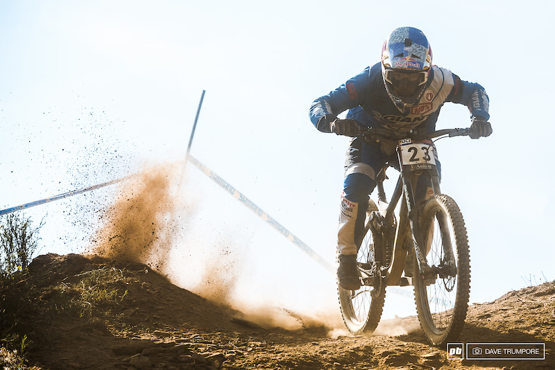 Marcelo Gutierrez powers through the dust for 6th. Just a half second from off the podium.