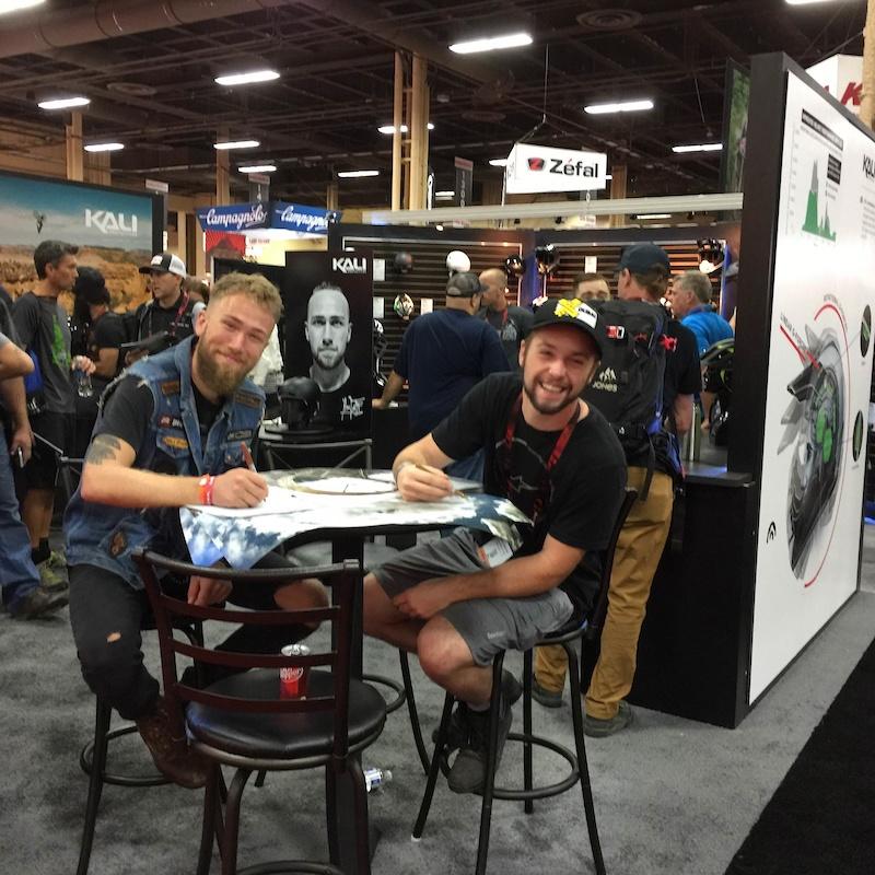 Matt and Nicholi at Kali booth