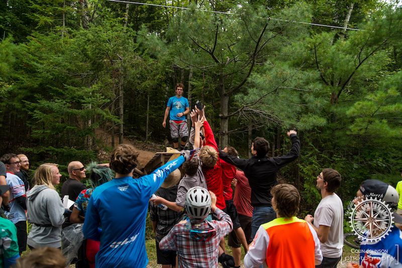 Swag toss after the Downhill