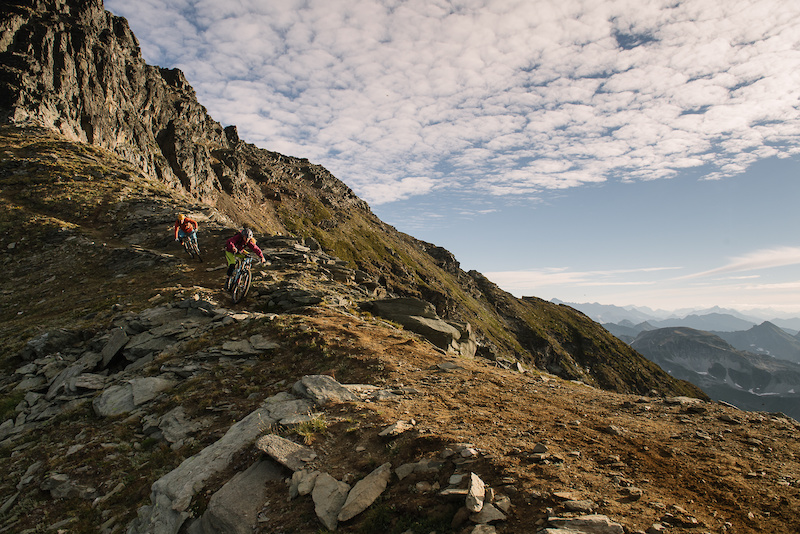 Casey Brown and Marty Schaffer descend down Mt. Cartier. Photo Paris Gore
