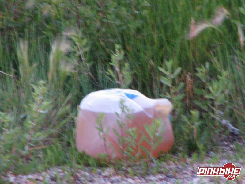 I looked over while having a pee break, and there she was, a piss jug...way of the road bubs..way of the road!