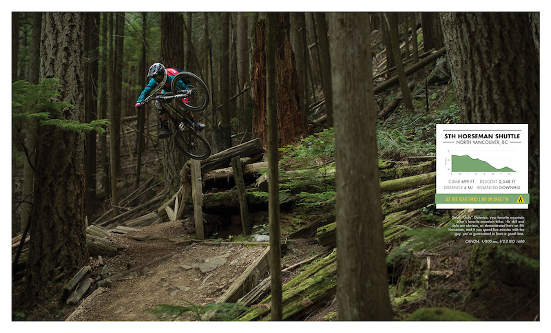 Geoff Gully Gulevich your favorite mountain biker s favorite mountain biker. His skill and style are obvious as demonstrated here on 5th Horseman and if you spend five minutes with the guy you re guaranteed a good time. Photo Sterling Lorence