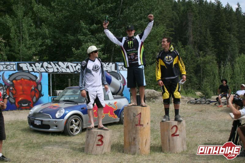 Tyler Morland (3), Sam Hill (1), Stevie Smith (2) on the podium in 2007.