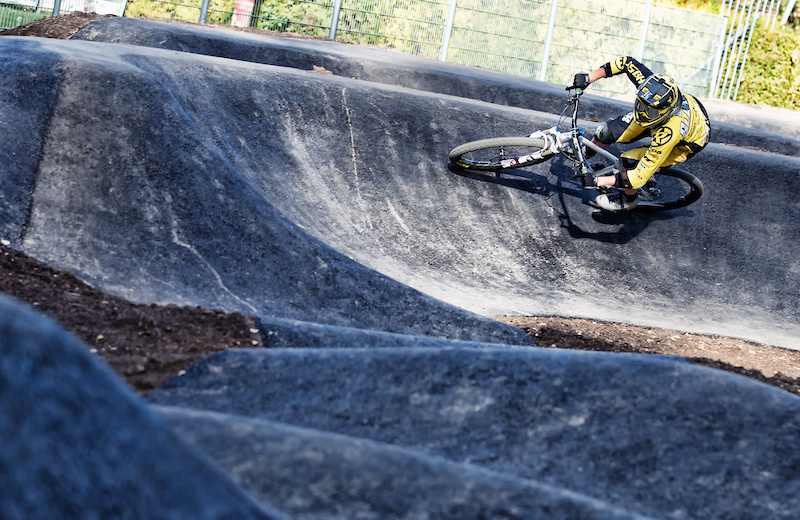 Velosolutions Asphalt Pumptrack in Neukirchen Austria. It was built in October 2016 and is the first ever Velosolutions Pumptrack in Austria.