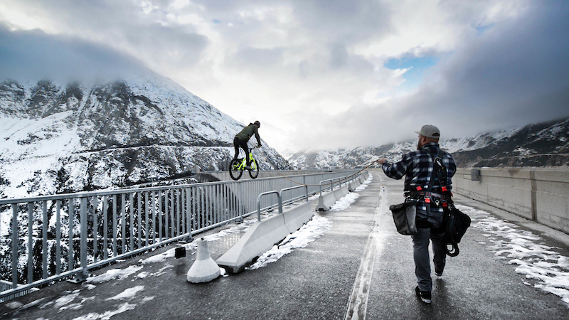 Fabio Wibmer Behind the Scenes of Riding a Dam Wall