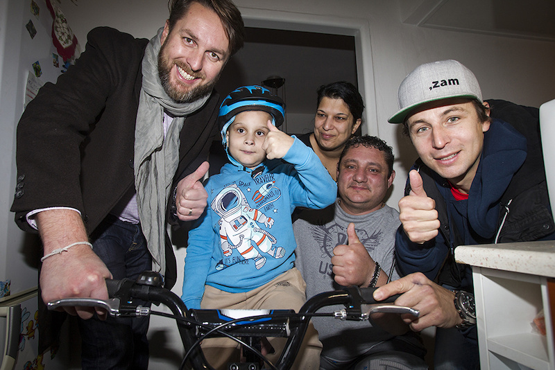 Gaspi and Lukas continuing to bring smiles to kids in Europe