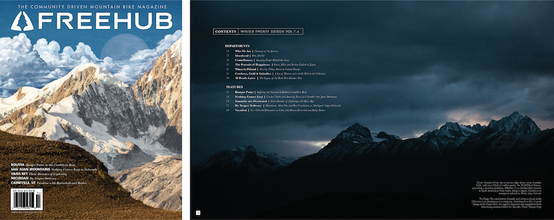 Freehub Magazine Issue 7.4 Cover Photo Joey Schusler TOC Photo Margus Riga