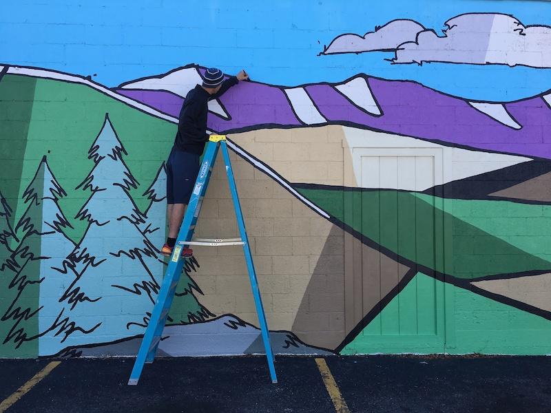 Joyride Bikes mural.