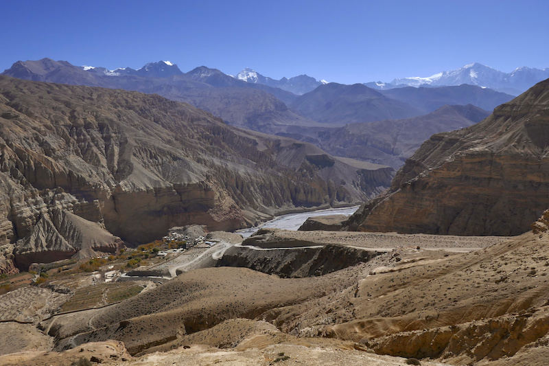 The epic climb up into Upper Mustang