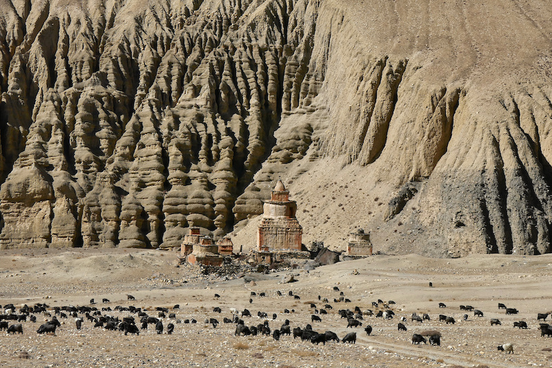Stupa on stage 6 and 9