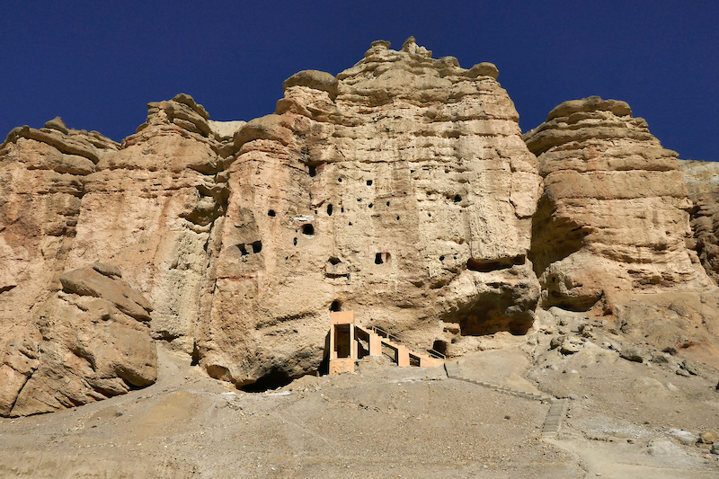 Caves in Mustang