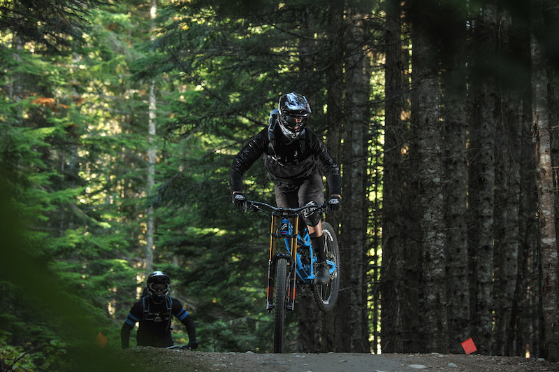 Paul amp Darren taking a lap in the Whistler Bike Park on a rare day off
