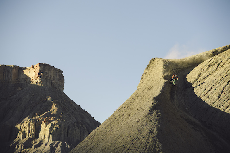 Darren Berrecloth descends a ridgeline outside of Cainville UT.