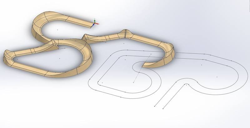 Inspiration for the logo was the idea of a track so thought I d try modelling it with all the berms etc.