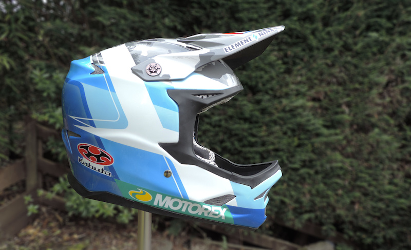 Custom painted Kabuto DH helmet for Unior Tools Team's Reece Wilson