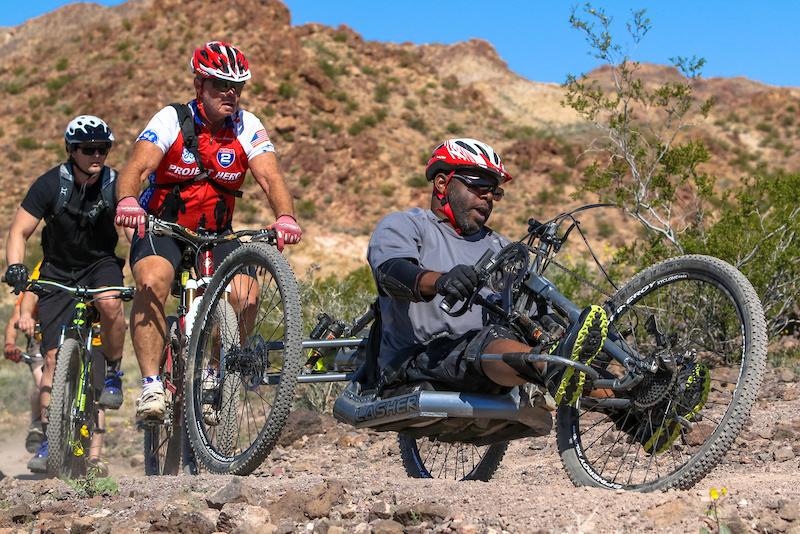 Multi Discipline Hand Bike Enduro at the 2016 DVO Mob n Mojave Photo by Ian Cook