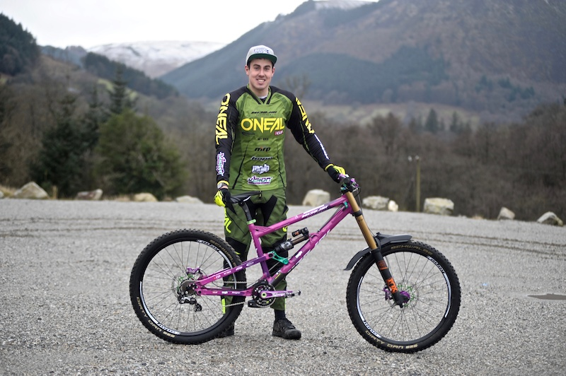 Myles James with his 2017 Nicolai Geometron G19