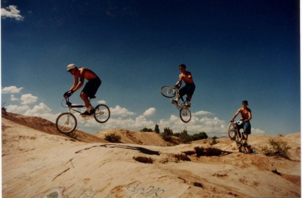 1994 at one of the first BMX Dirt Spots in Vegas.