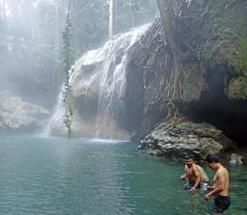 Hot springs at El Estor near the Rio Dulce Caribbean coast.