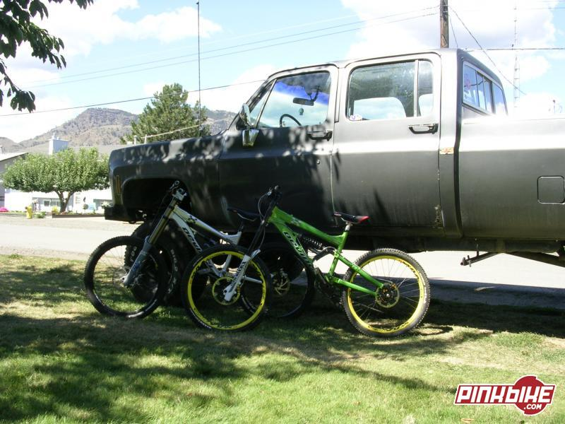 tell me what u think of my freeride bike(Ollie)and downhill bike(wilson) and my dads rig of a truck